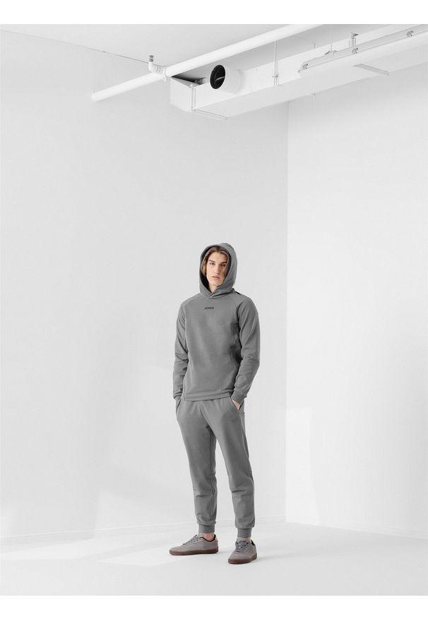 4f - Spodnie dresowe męskie RL9 x 4F. Kolor: szary. Materiał: dresówka. Wzór: aplikacja