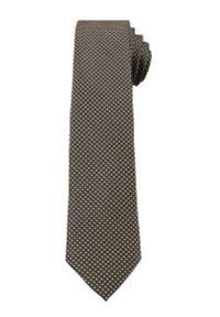 Alties - Beżowy Elegancki Krawat Męski -ALTIES- 6 cm, w Drobny Rzucik. Kolor: beżowy, brązowy, wielokolorowy. Materiał: tkanina. Styl: elegancki
