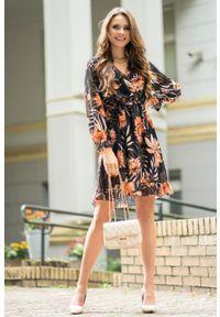 Merribel - Sukienka z Falbanką z Florystycznym Printem. Materiał: poliester. Wzór: nadruk