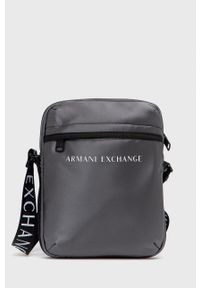 Armani Exchange - Saszetka. Kolor: szary