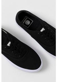 Element - Tenisówki. Nosek buta: okrągły. Zapięcie: sznurówki. Kolor: czarny. Materiał: bawełna, guma. Styl: klasyczny
