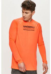 Pomarańczowa koszulka z długim rękawem Under Armour casualowa, na co dzień, z długim rękawem