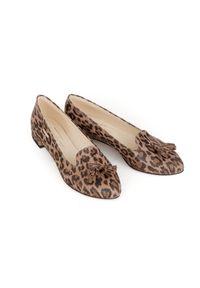 Baleriny Zapato bez zapięcia, wąskie, w kolorowe wzory, klasyczne