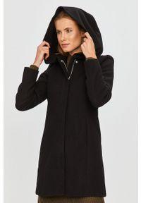 Czarny płaszcz Vero Moda casualowy, z kapturem, na co dzień
