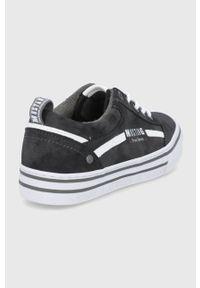 Mustang - Tenisówki Damen. Nosek buta: okrągły. Zapięcie: sznurówki. Kolor: czarny. Materiał: guma
