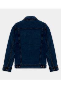 Niebieska kurtka jeansowa MegaKoszulki długa, elegancka, na wiosnę