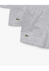 Lacoste - LACOSTE - Szare bokserki 3-pack. Kolor: szary. Materiał: bawełna. Wzór: haft