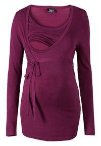 Fioletowy sweter bonprix moda ciążowa