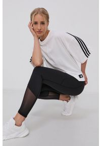 adidas Performance - T-shirt. Kolor: biały