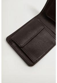 Mango Man - Portfel Wallet. Kolor: brązowy. Materiał: materiał. Wzór: gładki