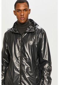 Czarna kurtka Rains na co dzień, gładkie, z kapturem