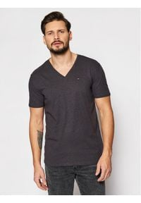 Tommy Jeans T-Shirt DM0DM04412 Szary Regular Fit. Kolor: szary