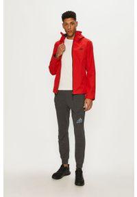 Czerwona kurtka 4f na co dzień, z kapturem, casualowa