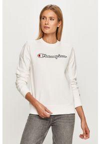 Champion - Bluza. Okazja: na co dzień. Kolor: biały. Wzór: aplikacja. Styl: casual
