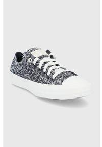 Converse - Tenisówki. Nosek buta: okrągły. Zapięcie: sznurówki. Kolor: czarny. Materiał: guma