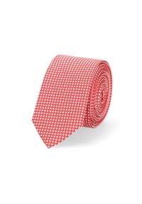 Lancerto - Krawat Czerwony Wzór Geometryczny. Okazja: do pracy, na co dzień. Kolor: czerwony. Materiał: tkanina, mikrofibra. Wzór: geometria. Styl: klasyczny, wizytowy, casual