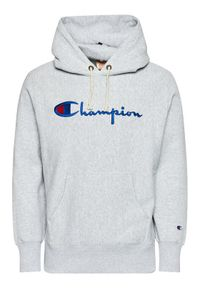 Champion Bluza Script Logo 215159 Szary Custom Fit. Kolor: szary