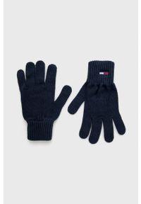 Tommy Jeans - Rękawiczki. Kolor: niebieski
