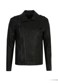 Czarna kurtka TOP SECRET w kolorowe wzory, na spacer, na wiosnę
