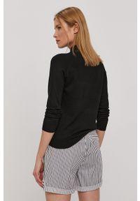 Pieces - Sweter. Okazja: na co dzień. Kolor: czarny. Materiał: dzianina. Długość rękawa: długi rękaw. Długość: długie. Styl: casual