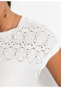 Biała bluzka bonprix krótka, klasyczna