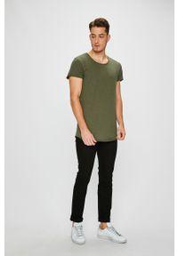 Zielony t-shirt Jack & Jones na co dzień, casualowy