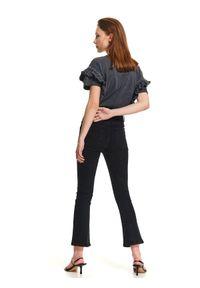Czarne spodnie TOP SECRET casualowe, na co dzień, z podwyższonym stanem