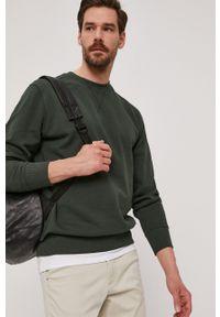 Selected - Bluza bawełniana. Okazja: na co dzień. Kolor: zielony. Materiał: bawełna. Styl: casual