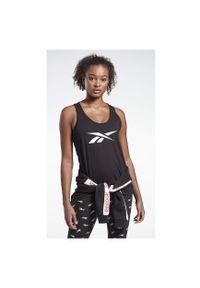 Koszulka treningowa damska Reebok Training Essentials Graphic FQ4467. Materiał: bawełna, materiał. Długość rękawa: bez rękawów. Sport: fitness