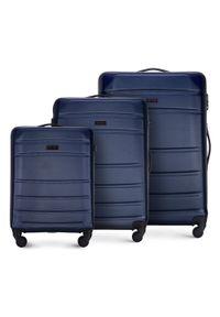 Niebieska walizka Wittchen klasyczna