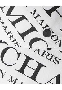 MAISON MICHEL PARIS - Kapelusz Axel z nadrukami. Kolor: czarny. Materiał: puch, bawełna. Wzór: nadruk. Sezon: lato. Styl: elegancki, sportowy