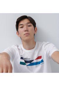 House - Koszulka z bawełny organicznej - Biały. Kolor: biały. Materiał: bawełna