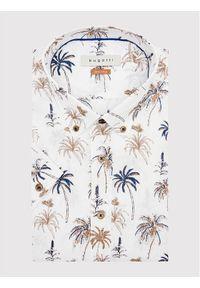 Bugatti Koszula 9450 78547 Biały Modern Fit. Kolor: biały