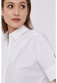 Karl Lagerfeld - Koszula bawełniana. Kolor: biały. Materiał: bawełna. Długość rękawa: krótki rękaw. Długość: krótkie. Wzór: gładki