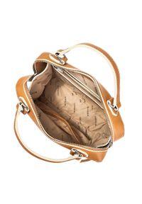 Kremowy kuferek Wittchen klasyczny, skórzany
