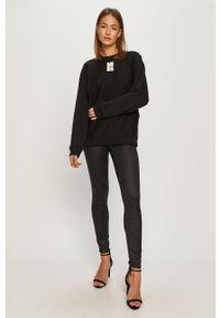 Czarna bluza Miss Sixty z długim rękawem, z nadrukiem