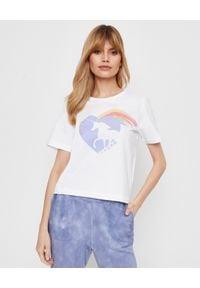 LOVE SHACK FANCY - Biały t-shirt Calix. Kolor: biały. Materiał: bawełna, dresówka, jeans. Wzór: aplikacja, kolorowy
