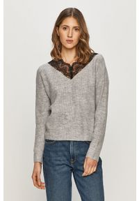 Vila - Sweter. Kolor: szary