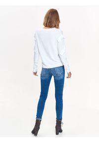 Biały sweter TOP SECRET na co dzień, długi
