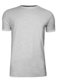 Szary t-shirt Brave Soul na co dzień, z krótkim rękawem