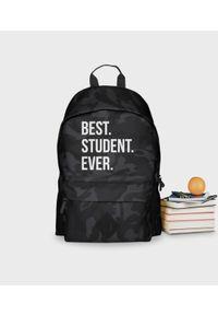 MegaKoszulki - Plecak moro Best Student Ever. Materiał: poliester. Wzór: moro. Styl: młodzieżowy