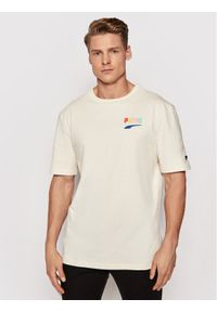 Puma T-Shirt Downtown Graphic Tee 530899 Żółty Regular Fit. Kolor: żółty