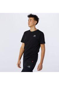 T-shirt New Balance krótki, z haftami, na co dzień, z krótkim rękawem