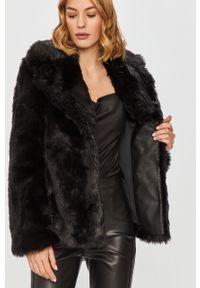 Czarna kurtka Patrizia Pepe klasyczna, bez kaptura, na co dzień