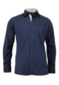 Niebieska elegancka koszula Jurel z długim rękawem, długa