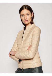 Patrizia Pepe Kurtka puchowa CS0178/A503-J3N8 Brązowy Slim Fit. Kolor: brązowy. Materiał: puch