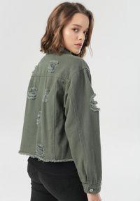 Brązowa kurtka jeansowa Born2be