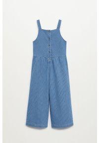 Niebieskie jeansy Mango Kids gładkie, na co dzień