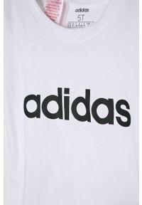 Biała bluzka z krótkim rękawem adidas Performance z nadrukiem, na co dzień, casualowa