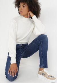 Born2be - Niebieskie Jeansy Slim Klelodia. Stan: podwyższony. Kolekcja: plus size. Kolor: niebieski. Długość: długie #5